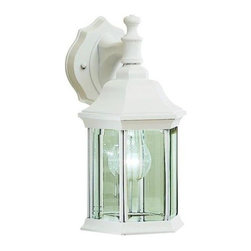 Kichler Lighting - Kichler Lighting - 9776WH - Chesapeake - One Light Outdoor Wall Mount - Traditional-styled beauty in die-cast aluminum with candlestick lights and beveled glass in a powder-coated White finish.