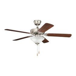 "Kichler - Kichler 339220NI7 Sterling Manor 52"" Indoor Ceiling Fan 5 Blades - Light Kit - Included Components:"