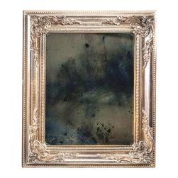 "Art Dallas, Incorporated - Art Dallas Antique Mirror - Indigo Blue - An Art Dallas handcrafted ""Indigo Blue"" Antique Mirror framed with our Flash® molding."