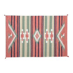 1800-Get-A-Rug - Reversible Southwest Design Hand Woven Sh11572 - About Flat Weave