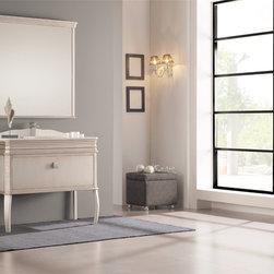 "London bathroom vanity 41"". Antique silver. - London 41"" bathroom vanity. Antique silver. Available in stock."