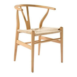 Fine Mod Imports - Woodstring Natural Dining Chair - Features:
