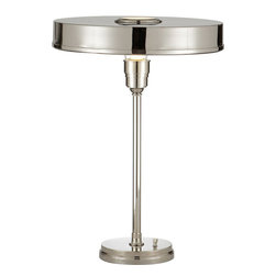 Visual Comfort & Co. - Visual Comfort & Co. TOB3190PN Thomas Obrien Carlo 1 Light Desk Lamps - This 1 light Task Table Lamp from the Thomas Obrien Carlo collection by Visual Comfort will enhance your home with a perfect mix of form and function. The features include a Polished Nickel finish applied by experts. This item qualifies for free shipping!