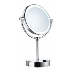 Smedbo - Smedbo Round Make-Up Mirror, Led Lighted, Polished Chrome - Smedbo Round Make-Up Mirror, Led Lighted, Polished Chrome