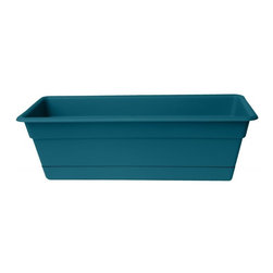 Bloem - Bloem 36in Dura Cotta Window Box Turbulent DCBT3648, 6 pack - Plastic planters offer affordable beauty without heavy weight or risk of breakage.