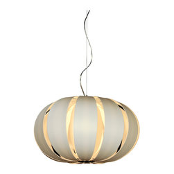 Trend Lighting - Pique Oval Pendant - Modern elegance at its best, this pendant's oval shape will delight you as it brightens your room. The gentle S curve of the metal hanging fixture adds to the feeling that everything is arcing towards brilliance.