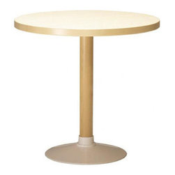 """Artek - P90B End Table - Features: -End table. -Leg material: Natural lacquered birch. Dimensions: -28"""" H x 29.5"""" W x 29.5"""" D, 44 lbs."""