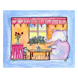 Oh How Cute Kids by Serena Bowman - Tea For Two, Ready To Hang Canvas Kid's Wall Decor, 24 X 30 - Each kid is unique in his/her own way, so why shouldn't their wall decor be as well! With our extensive selection of canvas wall art for kids, from princesses to spaceships, from cowboys to traveling girls, we'll help you find that perfect piece for your special one.  Or you can fill the entire room with our imaginative art; every canvas is part of a coordinated series, an easy way to provide a complete and unified look for any room.