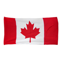Zeckos - Canadian Maple Leaf Flag Beach Towel 60 Inches x 30 Inches Canada - This awesome red and white terrycloth beach towel features a Canadian flag maple leaf design. The towel measures 60 inches long, 30 inches wide, with sewn edges to prevent fraying. It makes a great gift for folks who are proud of their Canadian heritage.