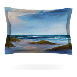 "Kess InHouse - Rosie Brown ""Wet Sand"" Beach View Pillow Sham (Cotton, 30"" x 20"") - Pairing your already chic duvet cover with playful pillow shams is the perfect way to tie your bedroom together. There are endless possibilities to feed your artistic palette with these imaginative pillow shams. It will looks so elegant you won't want ruin the masterpiece you have created when you go to bed. Not only are these pillow shams nice to look at they are also made from a high quality cotton blend. They are so soft that they will elevate your sleep up to level that is beyond Cloud 9. We always print our goods with the highest quality printing process in order to maintain the integrity of the art that you are adeptly displaying. This means that you won't have to worry about your art fading or your sham loosing it's freshness."