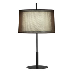 Robert Abbey - Saturnia Table Lamp - Sheer brilliance. Whether you choose silver or bronze, the sheer outer shade of this elegant lamp will beautifully match the finish of the metal body and diffuse the light for a warm, inviting glow.