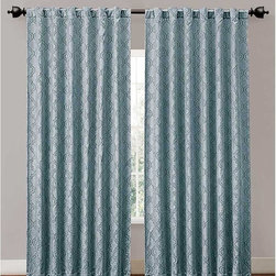 Victoria Classics - Victoria Classics Hensley Backtab Blackout 52W x 84L in. Curtain Panel - HSN-PNL - Shop for Curtains and Drapes from Hayneedle.com! Frame your window in rich color and block light and sounds with the Victoria Classics Hensley Backtab Blackout 52W x 84L in. Curtain Panel. This curtain panel comes in your choice of modern color and has a subtle pattern. It features a blockout back to save on energy bills. Nice! This panel is made of durable polyester and has a sleek backtab design to present a contemporary look that's a breeze to hang.