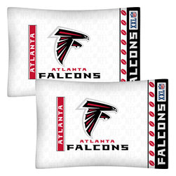 Store51 LLC - NFL Atlanta Falcons Football Set of 2 Logo Pillowcases - Features: