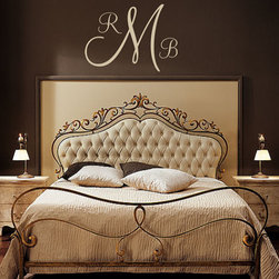 Personalized Monogram Initial Vinyl Wall Decal By five star signs - These monogrammed wall decals could be used anywhere in your home to personalize your space. The great thing is they are easily removable if you change your mind.