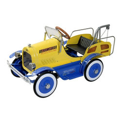Dexton - Dexton Deluxe Tow Truck Roadster Pedal Riding Toy Multicolor - DX-20135 - Shop for Tricycles and Riding Toys from Hayneedle.com! Sometimes other toys break down and what's more appropriate in that situation than the Dexton Deluxe Tow Truck Roadster Pedal Car Riding Toy? With a working tow hook tailgate and headlights your little wrecker will be pulling anything and everything from here to there with this sturdy all-metal pedal toy. An authentic vintage style down to the metal license plates makes this tow truck a fun way to get behind the wheel. This toy is recommended for children aged 3 - 6 with a weight capacity of 66 lbs. About DextonDexton has been manufacturing distinguished high-quality children's musical instruments and ride-ons for over 10 years. Located in the Orange County area of Southern California its factories produce 50 of the most popular musical instruments to professional standards that music teachers prefer. Dexton also produces a wide assortment of battery-powered and pedal car ride-ons as well as children's furniture. Dexton uses the highest-quality wood leather and chrome-plated steel when manufacturing its safe kid-friendly products.