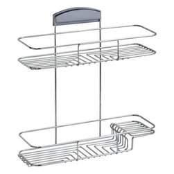STORit - Storit 2-Tier Basket Stainless Steel - This stylishly designed, stainless steel 2 Tier Basket mounts easily to the unique STORit bracket system and can be installed on any surface, at any height - no tools required! You're no longer restricted to the short-term option of hanging a caddy from the shower head. The 2 Tier Basket is stable and will not swing, even with uneven loads.