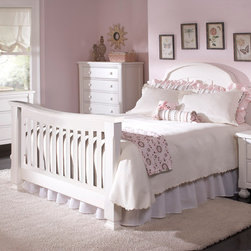Sugar Crib converted into Full Bed - •Sugar is a solid panel headboard crib that converts to a Toddler bed and either a Full or a QUEEN bed!