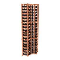 Wine Racks America® - 4 Column Standard Corner Kit in Redwood, (Unstained) - Get the most storage in your wine cellar with unique corner wine racks. We construct every rack to our industry-leading standards and back them up with our lifetime warranty. Designed with emphasis on functionality, these corner racks fit seamlessly into our modular line of wine racks.
