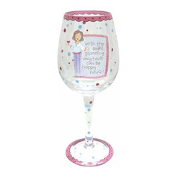 WL - Happy Hour Inscription Wine Glass with Chic Cartoon Woman Design - This gorgeous Happy Hour Inscription Wine Glass with Chic Cartoon Woman Design has the finest details and highest quality you will find anywhere! Happy Hour Inscription Wine Glass with Chic Cartoon Woman Design is truly remarkable.