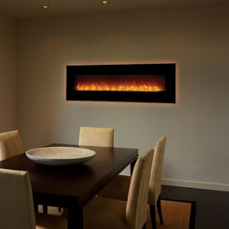 FPX 64EF Linear Electric Fireplace - Electric Inserts provide all the warmth, ambiance, and dancing flames of a wood or gas insert without the by-products, structural changes, and cost.   They're the practical alternative to wood, gas or pellet!