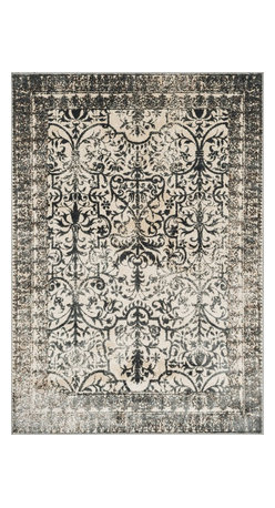 """Loloi Rugs - Loloi Rugs Elton Collection - Ivory / Slate, 3'-9"""" x 5'-6"""" - Designed to look like a modern version of yesterday's classics, the Elton Collection features intentionally distressed pattern that matches well with contemporary to transitional spaces. Elton is power loomed in Egypt of polypropylene and polyester for great durability and easy maintenance. Available in six sizes including a runner and a scatter."""