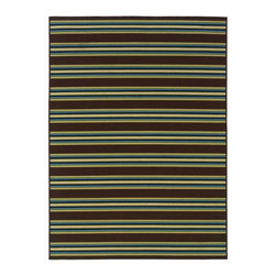 "Oriental Weavers - Indoor/Outdoor Caspian 6'7""x9'6"" Rectangle Brown-Green Area Rug - The Caspian area rug Collection offers an affordable assortment of Indoor/Outdoor stylings. Caspian features a blend of natural Brown-Green color. Machine Made of Polypropylene the Caspian Collection is an intriguing compliment to any decor."