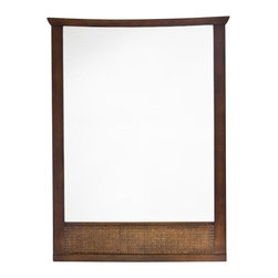 American Standard - Tropic Wall Mirror in Nutmeg - American Standard 9212.101.336 Tropic Wall Mirror in Nutmeg.