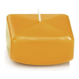 "Neo-Image Candlelight Ltd - Set of 18 - Yummi 2.25"" Harvest Gold Square Floating Candles - Our unscented 2.25"" Square Floating Candles are ideal when creating a beautiful candlelight arrangement for the home or wedding decor.  Available in 44 trendy candle colors hand over dipped with white core to match and compliment your home decor or wedding centerpiece decoration."