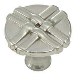 Stone Mill Hardware - Stone Mill Satin Nickel Weave Cabinet Knob - Stone Mill Hardware - Satin Nickel Weave Cabinet Knob