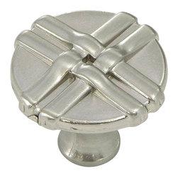 Stone Mill Hardware - Stone Mill Hardware Satin Nickel Weave Cabinet Knob - Stone Mill Hardware - Satin Nickel Weave Cabinet Knob
