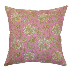 Pillow Collection - The Pillow Collection Danica Floral Pillow - Red / Pink - P18-42163-REDPINK-C100 - Shop for Pillows from Hayneedle.com! The feminine wiles of The Pillow Collection Danica Floral Pillow - Red / Pink make it an accent you just can't say no to. Made of 100% cotton this elegant square pillow features a plush 95/5 feather/down insert for a luxurious softness. The sweet pink print and traditional floral motif make this pillow the perfect finishing touch to pretty up your room in an instant.About The Pillow CollectionIdentical twin brothers Adam and Kyle started The Pillow Collection with a simple objective. They wanted to create an extensive selection of beautiful and affordable throw pillows. Their father is a renowned interior designer and they developed a deep appreciation of style from him. They hand select all fabrics to find the perfect cottons linens damasks and silks in a variety of colors patterns and designs. Standard features include hidden full-length zippers and luxurious high polyester fiber or down blended inserts. At The Pillow Collection they know that a throw pillow makes a room.