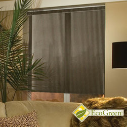 Comfortex - Comfortex Envision Roller Shades - EcoGreen Strata - The new EcoGreen line of roller shades offers stylish and environmentally friendly fabrics that are PVC-free and fully recyclable.  Strata features semi-sheer solid colors with the look of solar screen material.