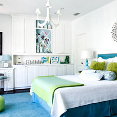 Eclectic  Young girls bedroom