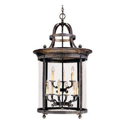 World Imports - Chatham 9-Light Hanging Interior Lantern, French Bronze - French bronze finish