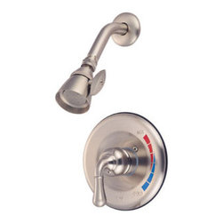 Kingston Brass - Single Handle Shower Faucet - Solid brass water way construction, Premium color finish resists tarnishing and corrosion, 2.5 GPM / 9.5 LPM at 60 PSI, 6in. reach Shower Arm, 1/4 turn washerless cartridge, 1/2in. IPS Inlets, Pressure Balance Valve, Temperature Check Stop, Ten year limited warranty.