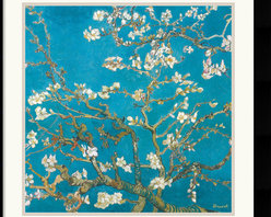 Amanti Art - Almond Branches in Bloom, San Remy 1890 Framed Print by Vincent Van Gogh - With haunting strokes of coarse lines and striking color, Vincent Van Gogh painted a legacy of the world's most coveted art during his short career of 10 years.