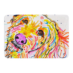 """KESS InHouse - Rebecca Fischer """"Koda"""" Labradoodle Memory Foam Bath Mat (17"""" x 24"""") - These super absorbent bath mats will add comfort and style to your bathroom. These memory foam mats will feel like you are in a spa every time you step out of the shower. Available in two sizes, 17"""" x 24"""" and 24"""" x 36"""", with a .5"""" thickness and non skid backing, these will fit every style of bathroom. Add comfort like never before in front of your vanity, sink, bathtub, shower or even laundry room. Machine wash cold, gentle cycle, tumble dry low or lay flat to dry. Printed on single side."""
