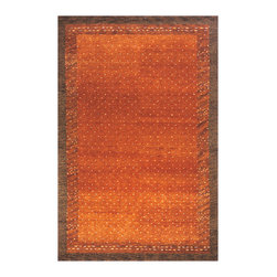 Momeni - Desert Gabbeh Collection Paprika - DG-01 - Rugs by Momeni - Made in the tradition of Gabbehs from the foothills of Iran, our Desert Gabbeh collection is hand-knotted in India of 100% wool, but given a modern twist with its warm color palette and designs.
