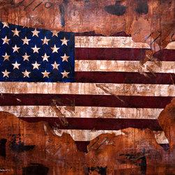 """Dustin Sinner Fine Art - 40""""x56"""" Independence Original - 3.5' x 5' Independence Original"""