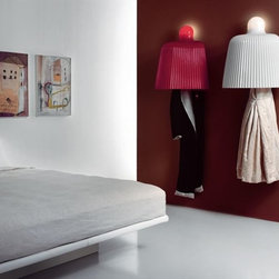 Tabard Hooks - If you're looking for something completely different, how about these coat hooks that look almost like lampshades? You actually put your clothes under the shade to protect them from dust.