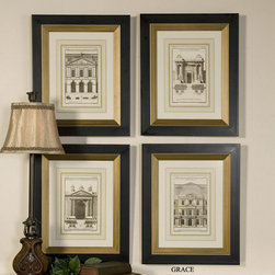 "33531 Architectural Facades- S/4 by Uttermost - Get 10% discount on your first order. Coupon code: ""houzz"". Order today."
