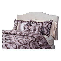 SIS Covers - SIS Covers Brandon Duvet Set - 6 Piece King Duvet Set - 5 Piece Twin Duvet Set Duvet 67x88, 1 Std Sham 26x20, 1 16x16 dec pillow, 1 26x14 dec pillow. 6 Piece Full Duvet Set Duvet 86x88, 2 Std Shams 26x20, 1 16x16 dec pillow, 1 26x14 dec pillow. 6 Piece Queen Duvet Set Duvet 94x98, 2 Qn Shams 30x20, 1 16x16 dec pillow, 1 26x14 dec pillow. 6 Piece California King Duvet Set Duvet 104x100, 2 Kg Shams 36x20, 1 16x16 dec pillow, 1 26x14 dec pillow6 Piece King Duvet Set Duvet 104x98, 2 Kg Shams 36x20, 1 16x16 dec pillow, 1 26x14 dec pillow. Fabric Content 1 60 Polyester 40 Rayon, Fabric Content 2 60 Polyester 40 Rayon, Fabric Content 3 60 Polyester 40 Cotton. Guarantee Workmanship and materials for the life of the product. SIScovers cannot be responsible for normal fabric wear, sun damage, or damage caused by misuse. Care instructions Dry Clean Only. Features Reversible Duvet and Shams