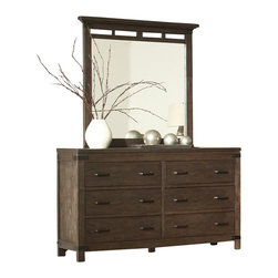 Riverside Furniture - Riverside Furniture Promenade 6 Drawer Dresser in Warm Cocoa - Riverside Furniture - Dressers - 84562 - Riverside's products are designed and constructed for use in the home and are generally not intended for rental, commercial, institutional or other applications not considered to be household usage.