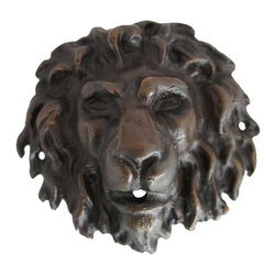 Eron Johnson Antiques - Small Antique Reproduction Bronze Lion Fountainhead - This piece is a faithful reproduction of the 18th century original, a contemporary casting we commission for our clientele who often find such period pieces impossible to find.