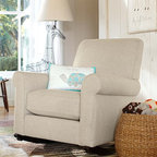 Charleston Upholstered Convertible Rocker - A plush armchair atop smooth hardwood runners makes a rocker you and your baby will love to share. Crafted with a solid hardwood frame for lasting strength, our new rocking chair is upholstered in our easy-to-clean, extra-soft Everyday Velvet.