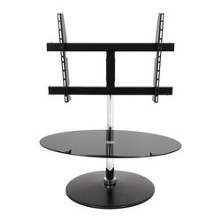 LumiSource - Modern C TV Stand - This C-shaped TV stand will add a contemporary flair to any room. This TV stand also swivels 360 degrees to position your TV any way you like.