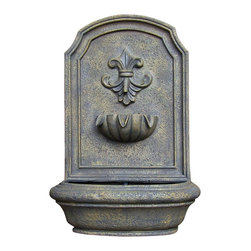 "Serenity Health & Home Decor - Noblesse Outdoor Wall Fountain, French Limestone - Dimensions: 18""Wide x 10.5"" Deep x 26.5""High, 11 lbs"
