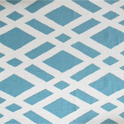 The Rug Market - TERRENA AQUA ,Area Rug ,size   7X10 - This contemporary rug is made of UV Poly and will surely add color to any space