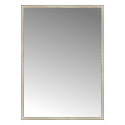 """Posters 2 Prints, LLC - 57"""" x 79"""" Libretto Antique Silver Custom Framed Mirror - 57"""" x 79"""" Custom Framed Mirror made by Posters 2 Prints. Standard glass with unrivaled selection of crafted mirror frames.  Protected with category II safety backing to keep glass fragments together should the mirror be accidentally broken.  Safe arrival guaranteed.  Made in the United States of America"""