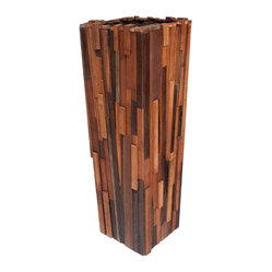 Salvaged Wood Planter, Tall
